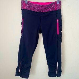 Lululemon Cropped Capri Leggings Crops Sz 4 Pink